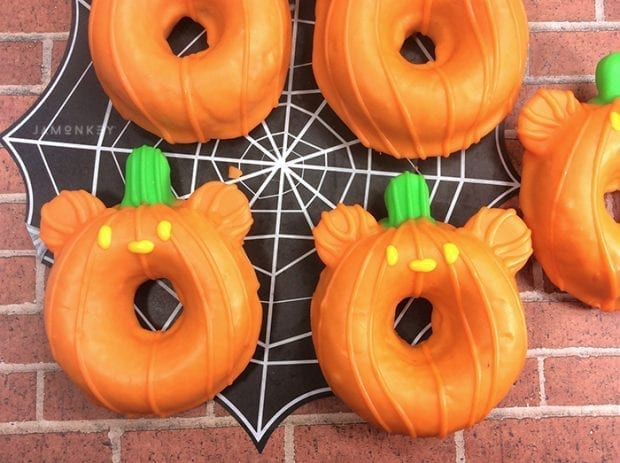 Mickey Mouse Pumpkin Donuts