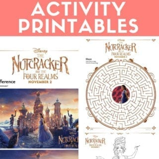The Nutcracker and the Four Realms Activity and Coloring Printables