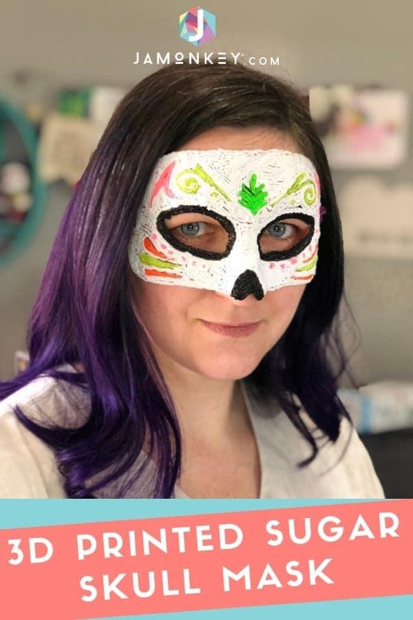 3D Printed Sugar Skull Mask