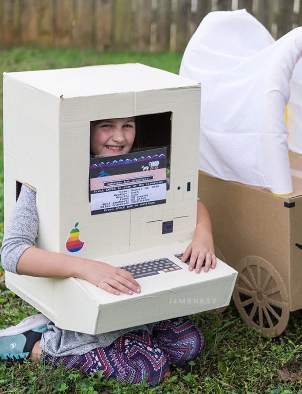 DIY Oregon Trail Box Costume for Kids and Dogs | JaMonkey