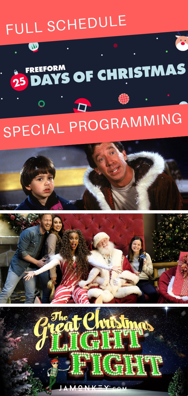 Full 25 Days of Christmas Schedule and Special Programming