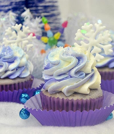 Sugar Plum Fairy Holiday Cupcakes