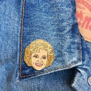 Betty White Pin