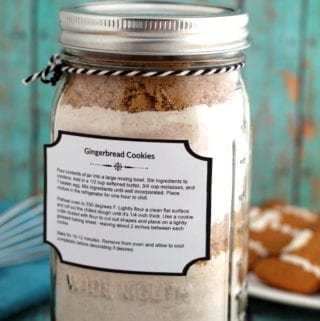 Gingerbread Cookie Mix Jar