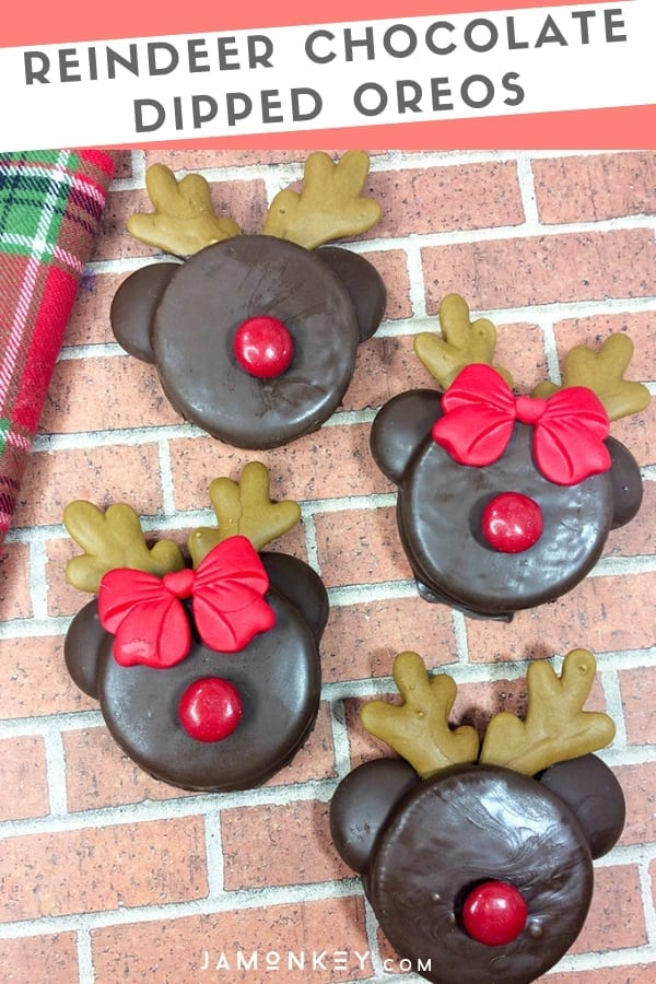 These Reindeer Chocolate Dipped Oreos Cookies are super easy to make and almost too adorable to eat.