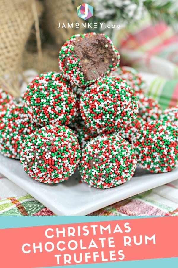 Christmas Chocolate Rum Truffles