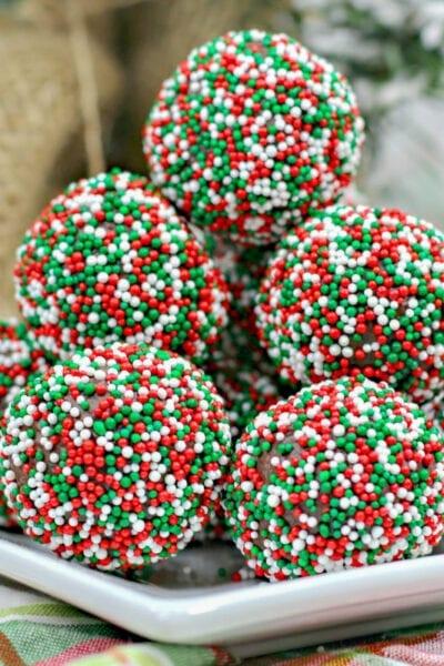 Christmas Chocolate Rum Truffles