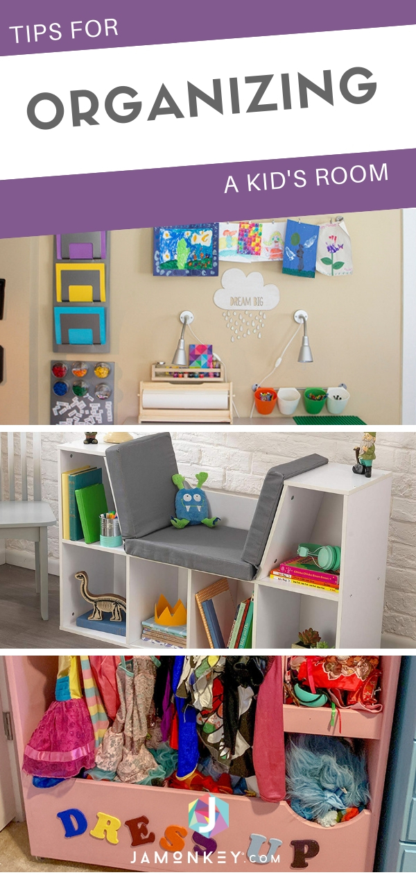 Tips for Organizing a Kid's Room from toys to clothes.