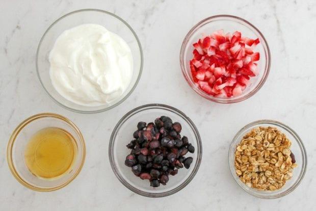 Ingredients for Yogurt Parfait Breakfast Popsicles