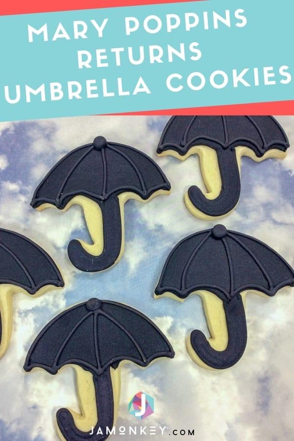 Mary Poppins Returns Umbrella Cookies
