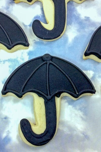 Mary Poppins Returns Umbrella Cookies