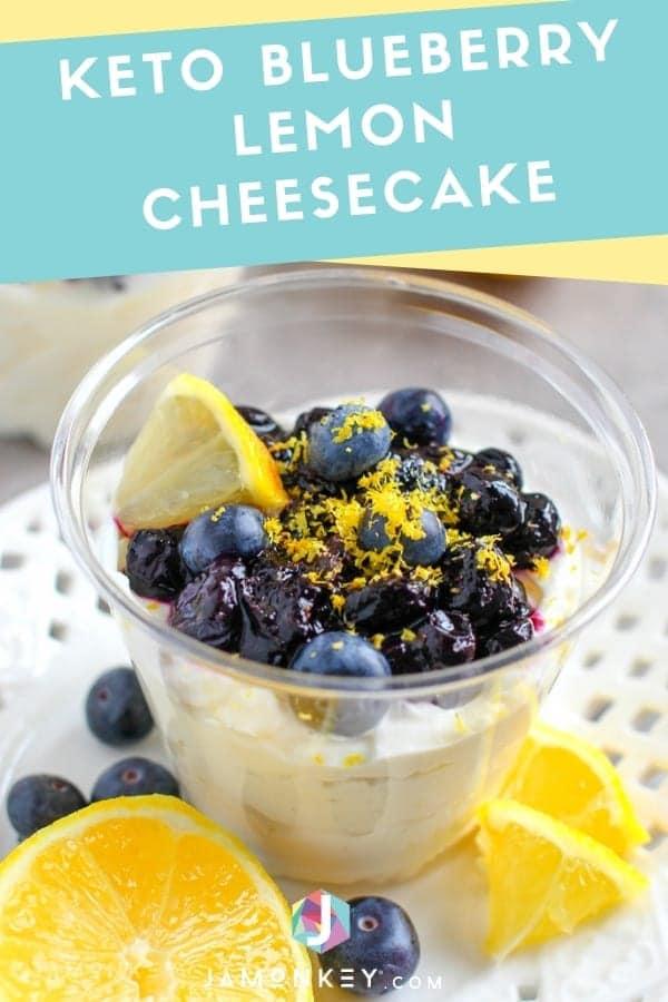 Keto Blueberry Lemon Cheesecake
