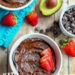 Keto Chocolate Chia Avocado Pudding