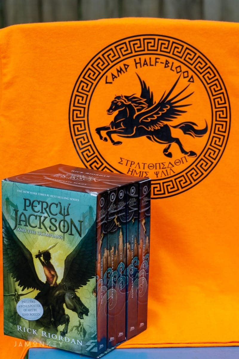 Percy Jackson Camp Half-Blood Shirt and Box Set