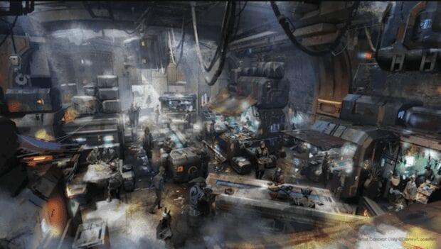 Docking Bay 7 Food and Cargo inside Star Wars: Galaxy's Edge.