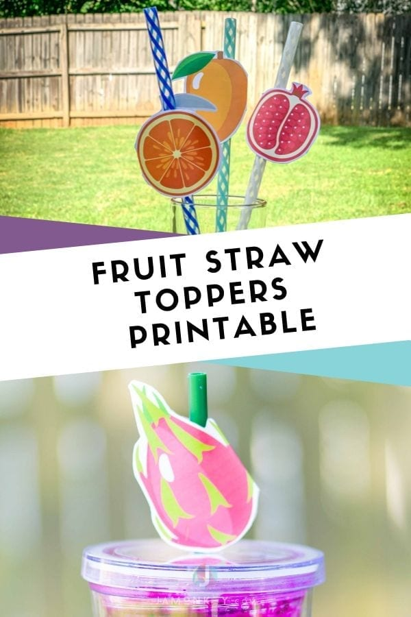 Fruit Straw Toppers Printable