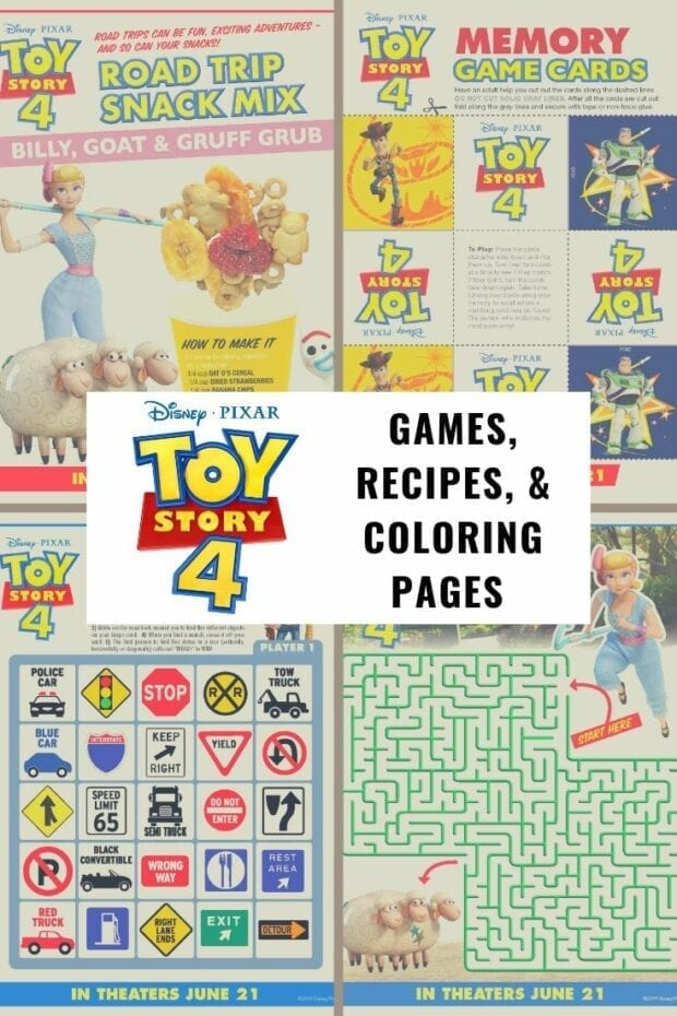 Toy Story 4 Printables - Games, Coloring, Recipes and More ...