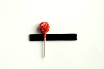 Black Pipe Cleaners on Lollipop