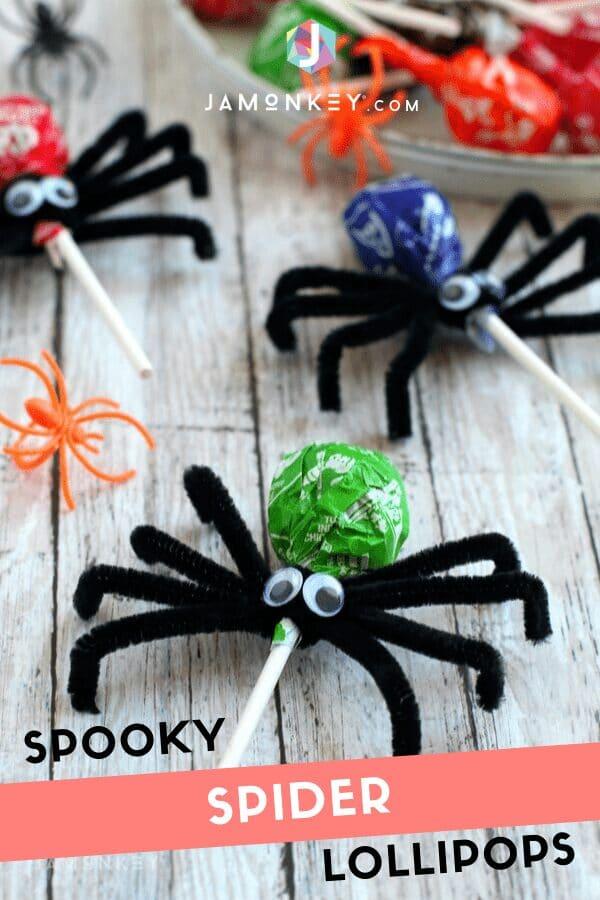 Spooky Spider Lollipops