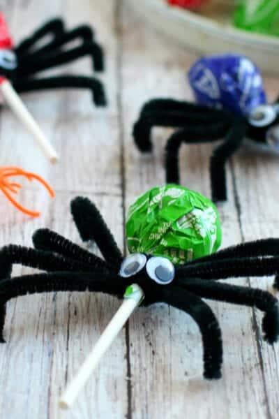 Spooky Spider Lollilipops