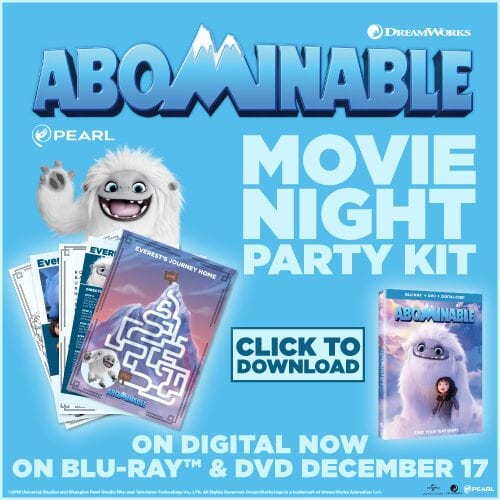 Abominable Movie Night Party Printable