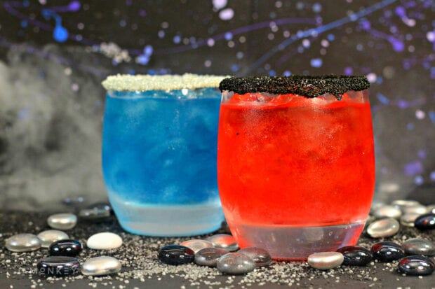 Star Wars Rey and Kylo Ren Lightsaber Cocktails