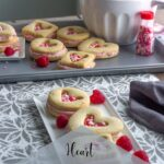 Heart Filled Shortbread Cookies