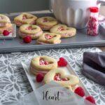 Heart Filled Shortbread Cookies
