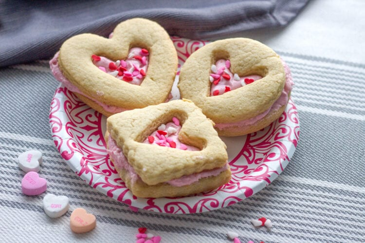 Heart Filled Shortbread Valentine's Cookies
