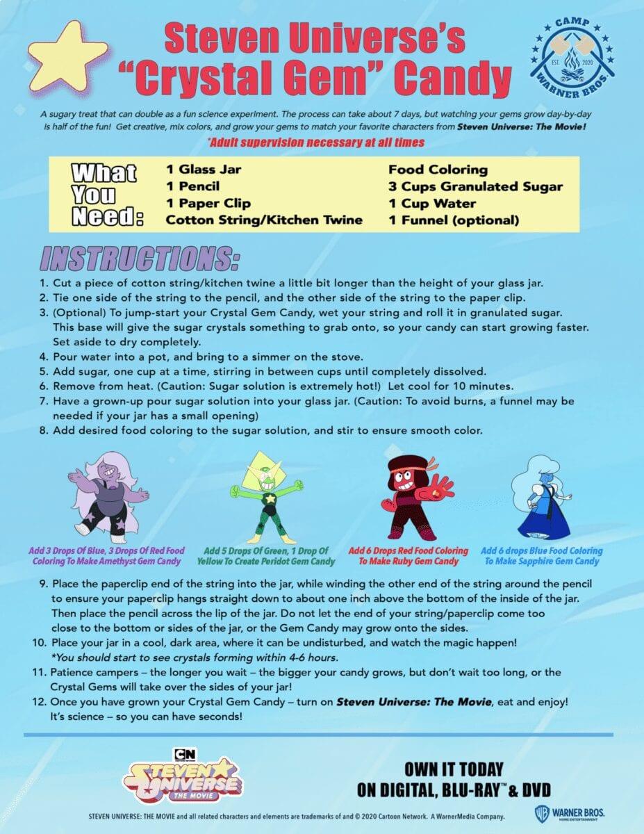 "Steven Universe's ""Crystal Gem"" Candy Recipe / Experiment"