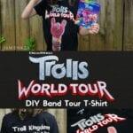 DIY Trolls World Tour Band T-Shirt