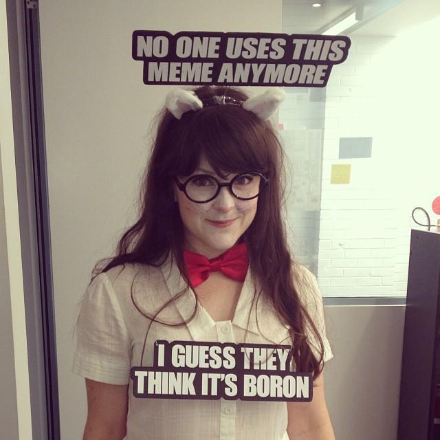 chemistry cat meme costume