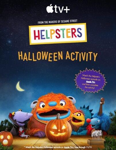 Helpsters Halloween Activity Printable