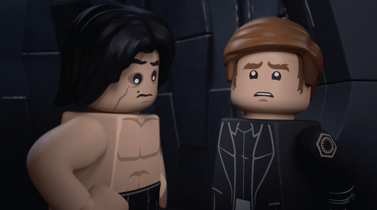 LEGO Kylo Ren with no shirt and General Hux