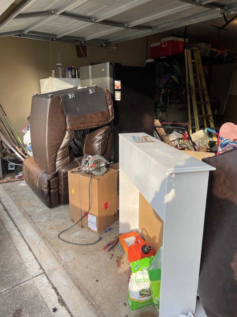 Junk in a garage